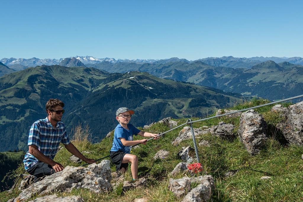 Klettersteig Kitzbüheler Horn : Traumhafter ausblick vom kitzbüheler horn
